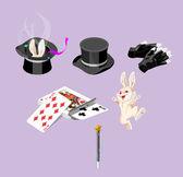 Magic elements vector — Stock Vector
