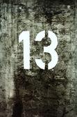 Grungy Thirteen — Stock Photo