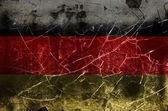 Uszkodzony niemiecką banderą — Zdjęcie stockowe
