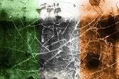 Damaged Irish Flag — Stock Photo
