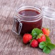 Royalty-Free Stock Photo: Jar of strawberry jam