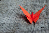 Origami butterfly — Stock Photo