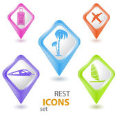 Rest pointers set — Stock Vector