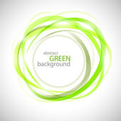 Abstract green rings vector background — Stock Vector