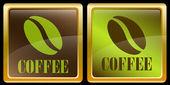 Coffee bean icons — Stock Vector