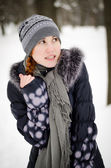 Girl is very cold — Stock Photo