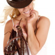 Cowgirl hat reins — Stock Photo
