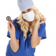 Mask stethoscope — Stock Photo