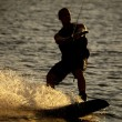 A man on his wake board — Stock Photo