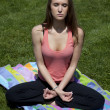 Meditating park — Stock Photo