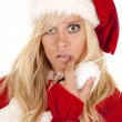 Mrs Santa close shock — Stock Photo #11952093