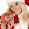 Mrs santdoughnut smirk — Stock Photo #11952173