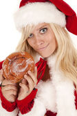 陈方圣诞老人甜甜圈笑 — 图库照片