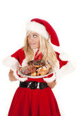 Mrs santa donuts don't get caught — Stockfoto