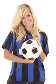 Soccer woman ball — Stock Photo