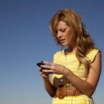 maux d'envoyer des SMS — Photo