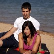 Couple on beach — Stock Photo #11970279