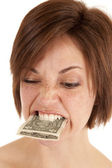 Eat money — Stock Photo