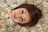 Face out of money — Stock Photo
