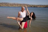 Taniec ruch w wodzie — Zdjęcie stockowe