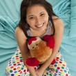 Stock Photo: Pajamas bear top view happy