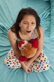 Pajamas bear top view mad — Stock Photo