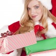Stock Photo: Mrs santgiving present