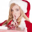 Stock Photo: Mrs Santpresent shhh