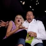 Scared popcorn — Stock Photo