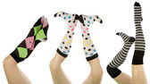 Socks set in different positions — Stock Photo