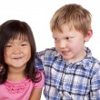 Young boy looking at young girl — Stock Photo #12100005