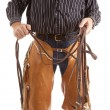 Cowboy body with reins - Stock Photo