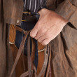 Cowboy close hold bridle — Stock Photo #12101345