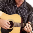 Cowboy playing guitar — Stock Photo