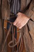 Cowboy close hold bridle — Stock Photo