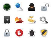 Security icons (smooth series) — Vettoriale Stock