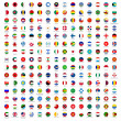 Circle flags of the world — Imagens vectoriais em stock