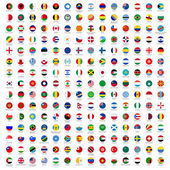 Circle flags of the world — 图库矢量图片