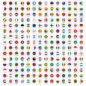 Bandiere del cerchio del mondo — Vettoriale Stock