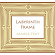 Stock Vector: Vector Labyrinth frame