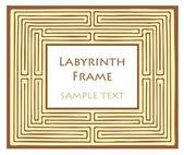 Vector Labyrinth frame — Stock Vector