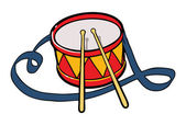 Vector illustration of drum — Stock Vector