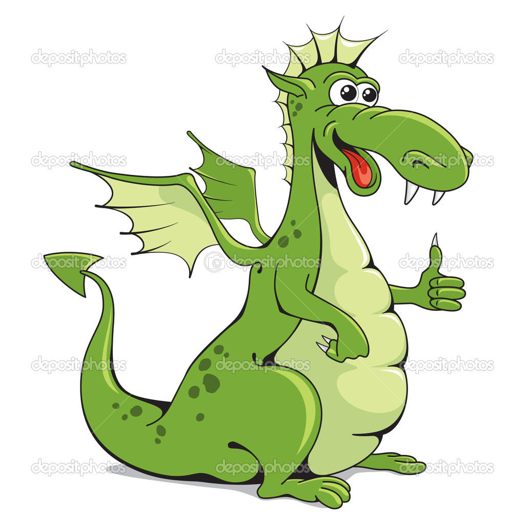 Funny dragon on a white background — Stock Vector #11913602