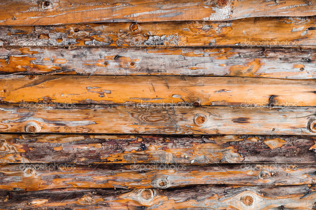 Pine wood wall texture from raw wood. — Stock Photo #11982046