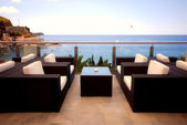Beautiful terrace view of Mediterranean seascape — Stok fotoğraf