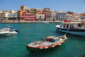 Panorama of Aghios Nikolaos in Crete, Greece. — Stock Photo