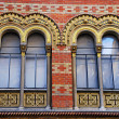 Ornate windows of Greek orthodox church, Vienna, Austria - Stock Photo