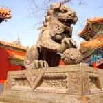 Ancient bronze lion (Beijing, China) — Stok fotoğraf #11997346