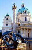 вена, собор сент-чарльз — Стоковое фото