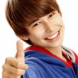 Young boy showing a thumbs up — Stock Photo